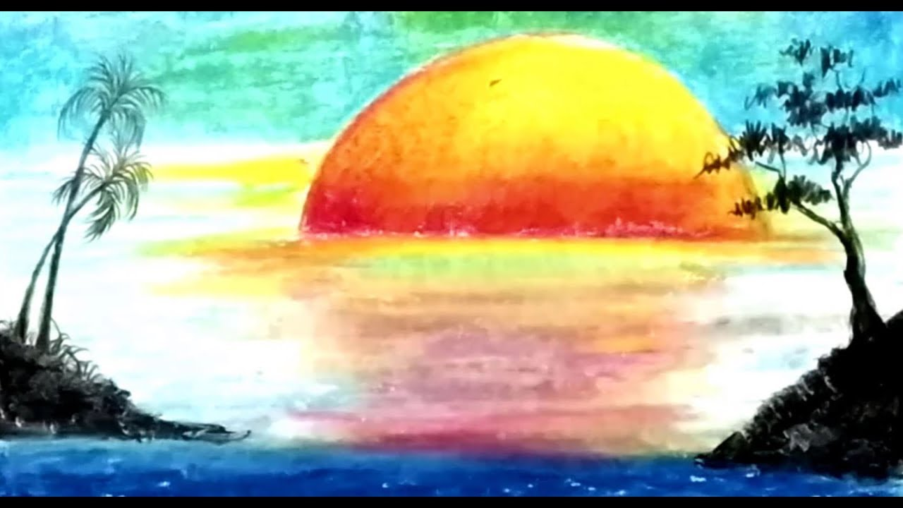 Simple Landscape Nature Scenery Drawing For Kids Step By Step Bangla Viral